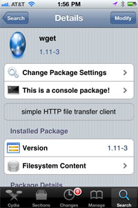 Install wget on iPhone - Cydia